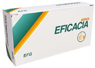 Caja de medicamento genérico con el eslogan Misma Eficacia